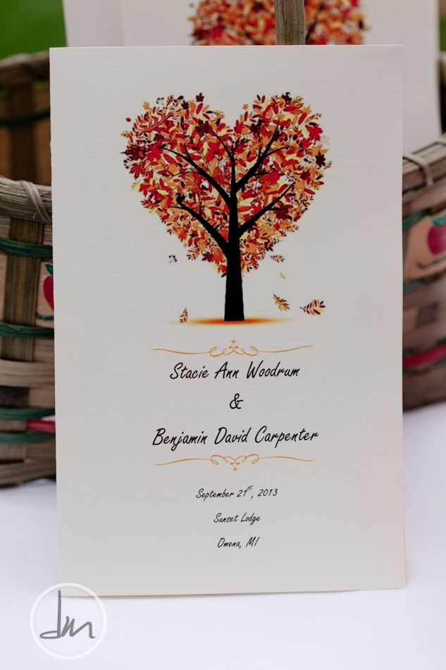 terry loves hearts so this feels perfect for a fall wedding invitation - Fall Themed Wedding Invitations