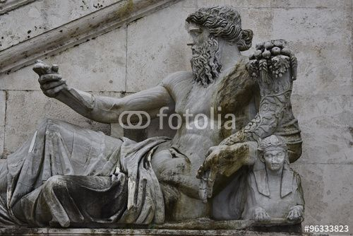 """Download the royalty-free photo """"The Nile statue Palazzo Senatorio, Rome, Italy"""" created by Ciaobucarest at the lowest price on Fotolia.com. Browse our cheap image bank online to find the perfect stock photo for your marketing projects!"""