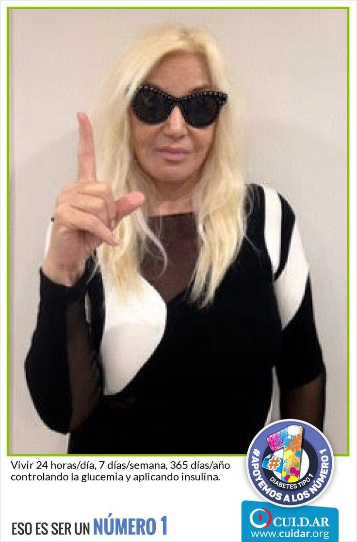 Gracias SUSANA GIMENEZ por apoyar a los Número 1! La Campaña de CUI.D.AR por el Día Mundial de la Diabetes! #Apoyemosalosnumero1