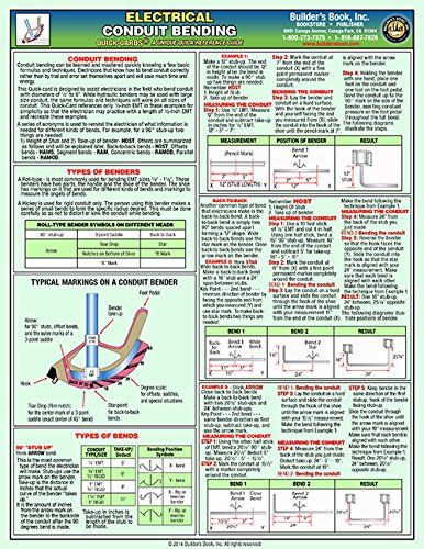 Electrical Conduit Bending Laminated Quick Card By Richard