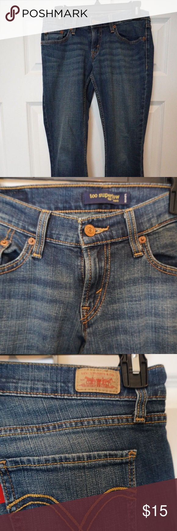 Levis 524 Too Superlow Size 3 28X29 LIKE NEW CONDITION - SEE PHOTOS!  Item# B1 Levi's Jeans