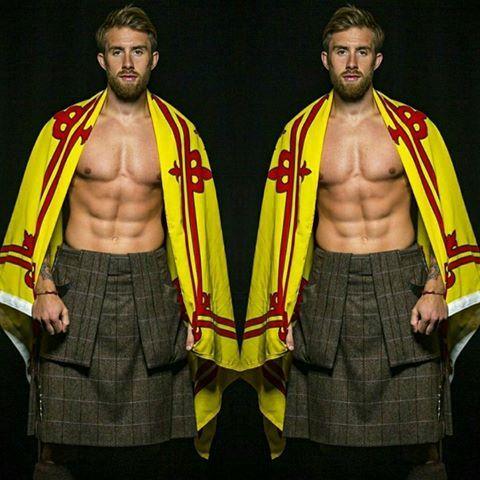 Mister World Scotland 2016: Tristan Cameron-Harper. #roadtomisterworld #misterworld #misterscotland #scotland #scottish #nationalcostume #kilt #tartan #malepageant #beard