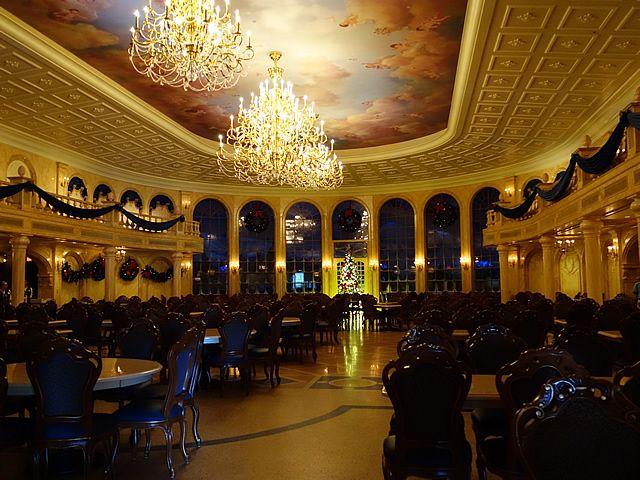 2012年12月にマジックキングダム(WDW)にオープンした美女と野獣のレストラン。