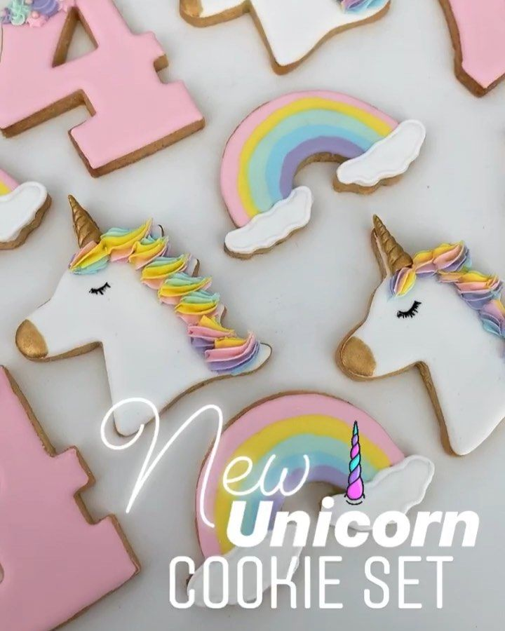 Unicorn Birthday Party Abu Dhabi Unicorn Party Cake Unicorn Cookies Unicorn Birthday Cake كيكة عيد ميلاد للبنات Unicorn Cookies Sugar Cookie Kids Party