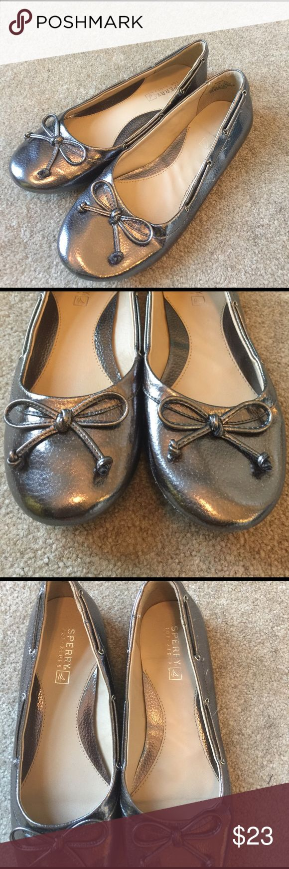Girls Sperry ballet flats In excellent condition. All man-made material. Sperry Top-Sider Shoes