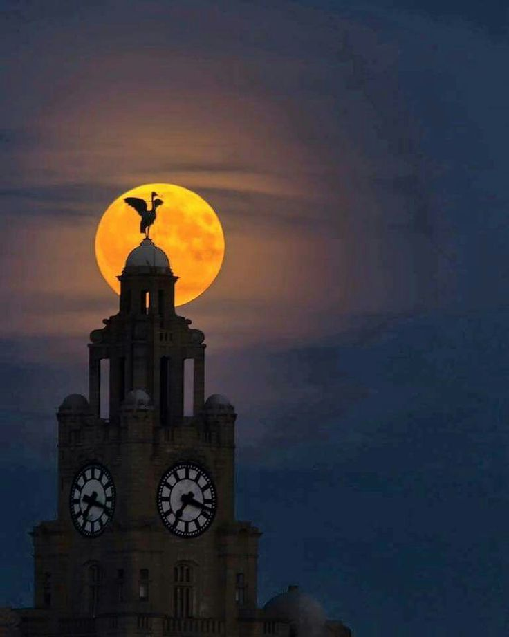 Moon over liverpool