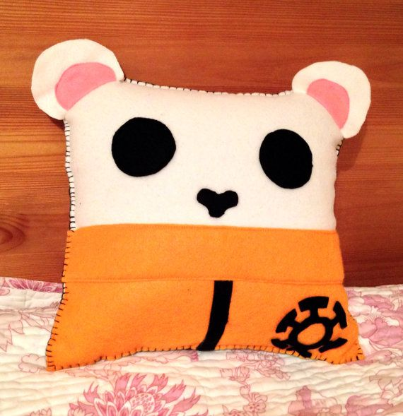 Bepo Themed One Piece Pillow by TailOfAdventure on Etsy