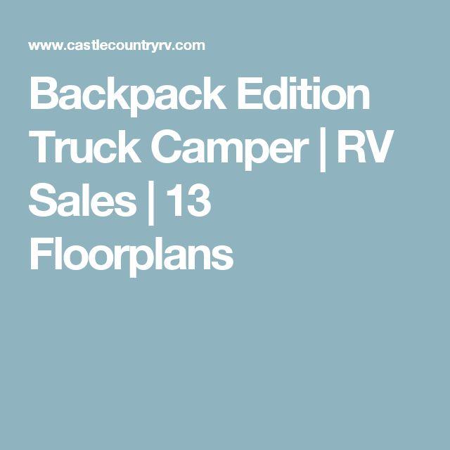Backpack Edition Truck Camper | RV Sales | 13 Floorplans