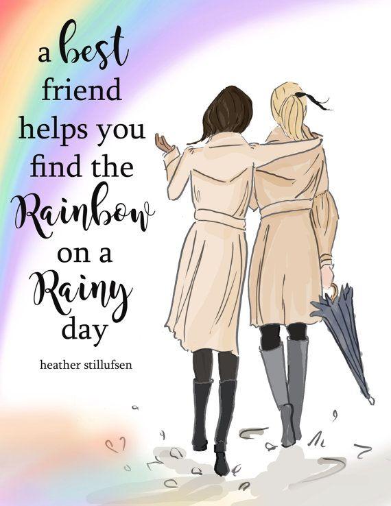 Kaarten voor beste vrienden beste vriend door RoseHillDesignStudio
