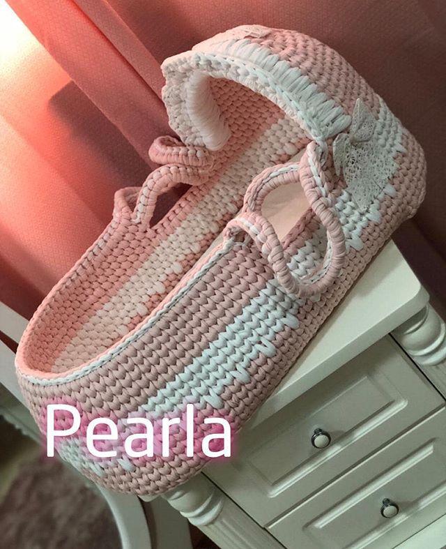 قبل الحذف Pearla F Pearla F سلة موسى وبطانيات وافرولات حديثي الولادة شغل يد بخيوط ناعمة عالية الجودة Pearla F Pearla F Bags Tote Tote Bag
