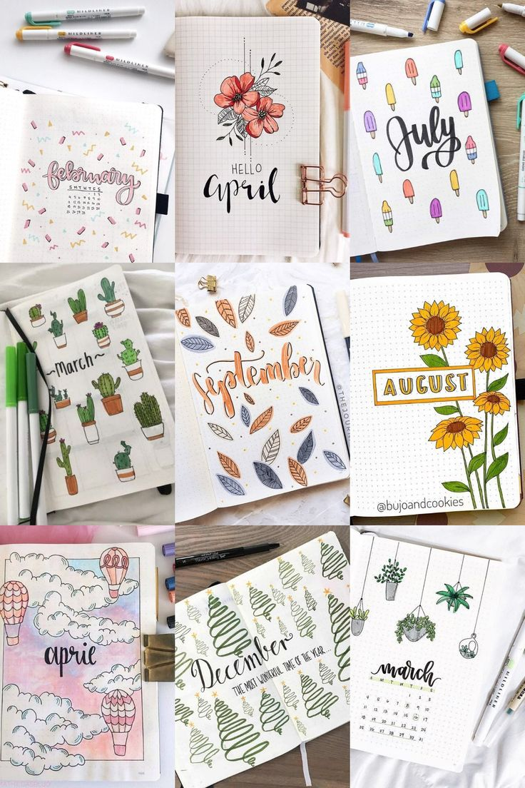 41 Bullet Journal Monthly Cover Ideas You Must Try in 2020 ...