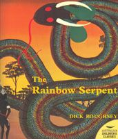The Rainbow Serpent  written & illustrated by Dick Roughsey  There are many names and stories associated with the Rainbow Serpent, all of whcih communicate its significance within Aboriginal traditions, most particularly as a symbol of fertility peace and unity.  Dick was born on Langunarnji Island in the Gulf of Carpentaria and his tribal name was Goobalathaldin meaning rough seas  softcovered - 16 pages PRICE:  $15.00 or (2) for $28.00