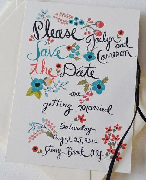 Painted invite