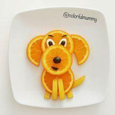 Little doggy food art
