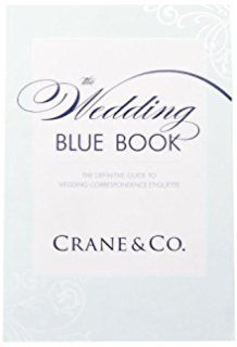 blue wedding book, buku tamu undangan pernikahan dari crane