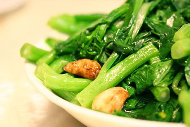 Chinese Greens (Yu Choy) Stir Fry | Recipe