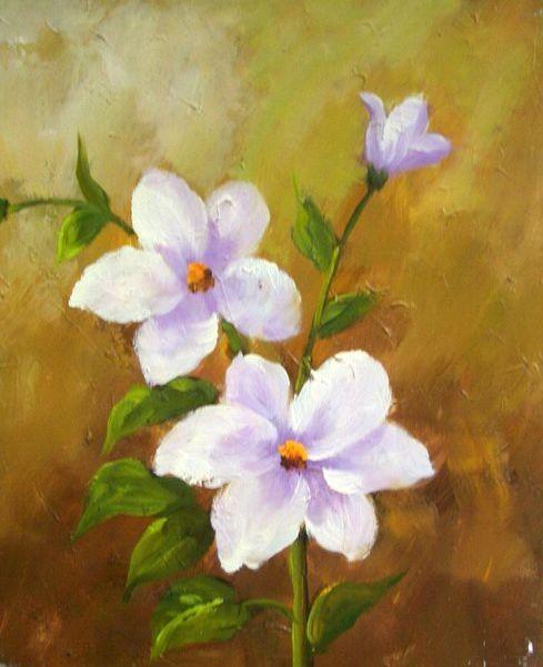 Konda Art Framed Handmade Purple Flower Oil Painting On: 17 Best Images About Flower Paintings On Pinterest