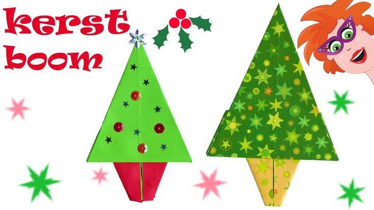 DIY Origami kerstboom vouwen (makkelijk) - knutselen met papier