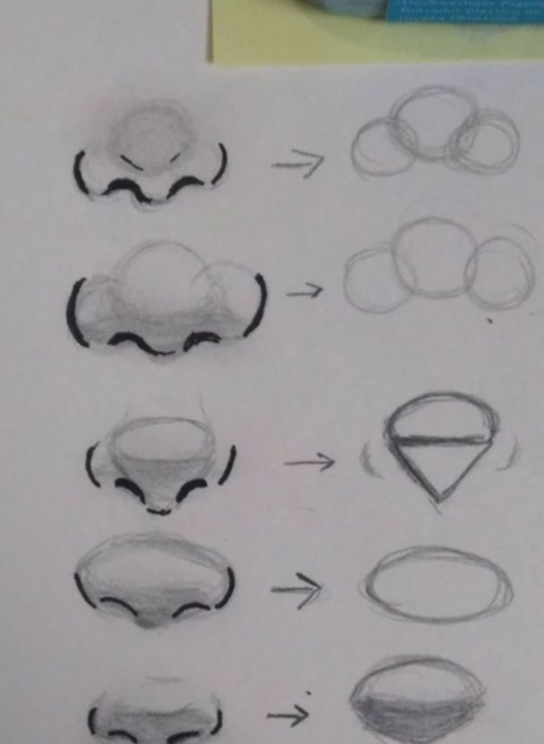 16 Anime Face Drawing Reference Nose Drawing Art Tutorials Drawings