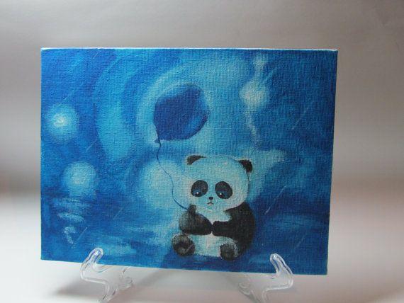 Картина   Панда  от MyLovelyFantasy на Etsy