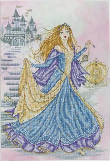 "Free cross-stitch design "" Fairy princess"".Capture the beauty and grace of a fairytale princess with this elegant design..."