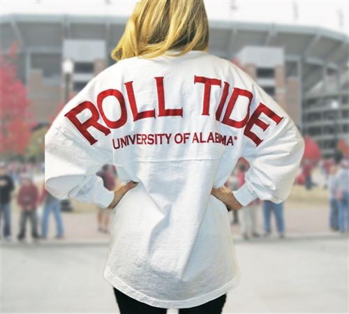 Tuskwear Spirit Jerseys. I would never get one that said Roll Tide but they have cute sweatshirts and t shirts