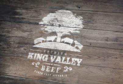 King Valley Premium Beef logo design
