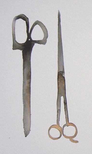 Scissors #watercolour #illustration