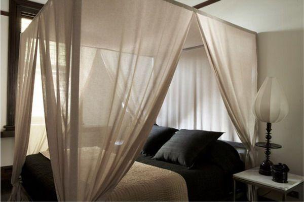 Балдахин — романтическая роскошь в интерьере спальни