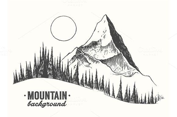 Mountain von grop auf Creative Market