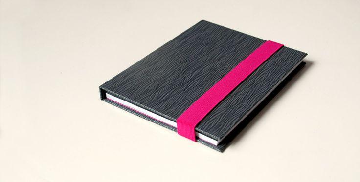 Notebooks & Notepads – tłoczone b&w pół na pół, A5, 100k – a unique product by Kajet on DaWanda