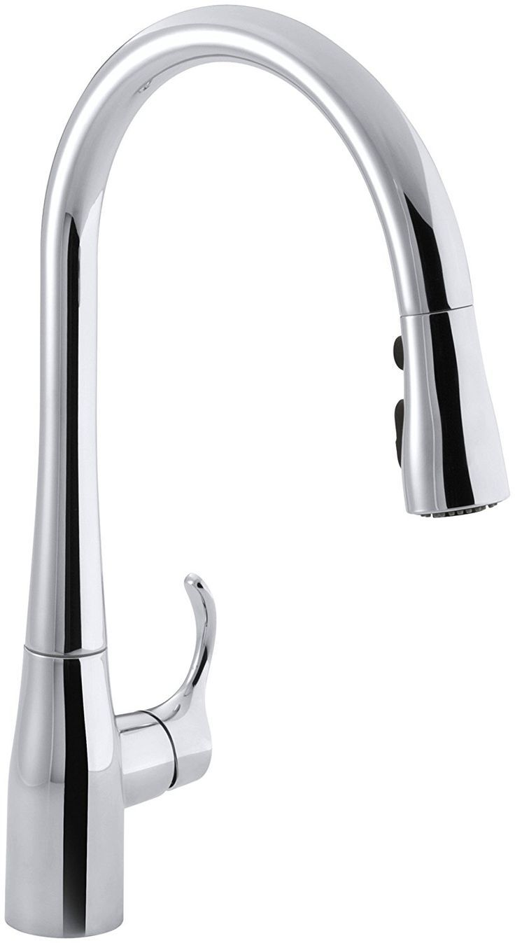 115 best kitchen faucets images on pinterest kitchen faucets kohler k 596 cp simplice single hole pull down kitchen faucet