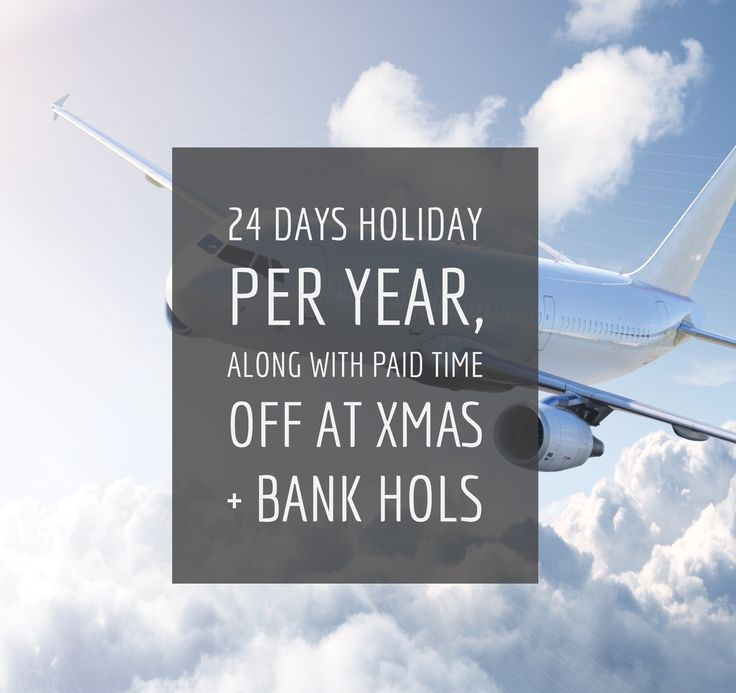 We love a good holiday at Recruit UK, that's why each of our consultants get';# 24 days holiday allowance per year, along with paid time off at Christmas (3-4 days on top of the bank holidays) + the chance to gain 6 extra days holidays per year just for hitting your monthly targets.