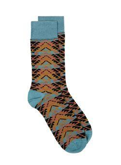 Mutli Folk Aztec Socks