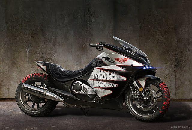 Ottonero Cafe Racer: Batmanized Honda NM4 Vultus