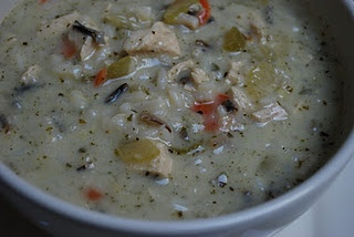"""""""Panera"""" Chicken & Wild Rice Soup -- I made this for lunch today & it's really good! I used uncle bens long grain & wild rice because my grocery didn't have near east. I also used 1/4tsp instead of the marjoram.  Nice fall dish!!"""