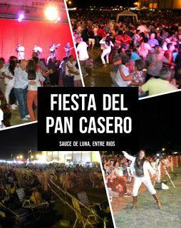 #FIESTADELPANCASERO  #PanCasero, #TortaAsada, #Mate, #Amigos... todo esto podremos compartir en la 6ta edición de la Fiesta joven más popular del norte entrerriano.   Del 26 al 28 de Enero te esperamos en #SauceDeLuna para vivir la #FiestaDelPanCasero.  Habrá servicio de comidas y puestos de expositores las 24 hs a cargo de la gente de la #FiestaNacionalDelAsadoConCuero, degustaciones de pan casero hecho en horno de barro.   Para los acampantes habrá sector disponible para sus carpas o…
