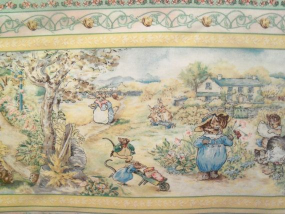 17 best images about baby nursery ideas beatrix potter - Peter rabbit nursery border ...