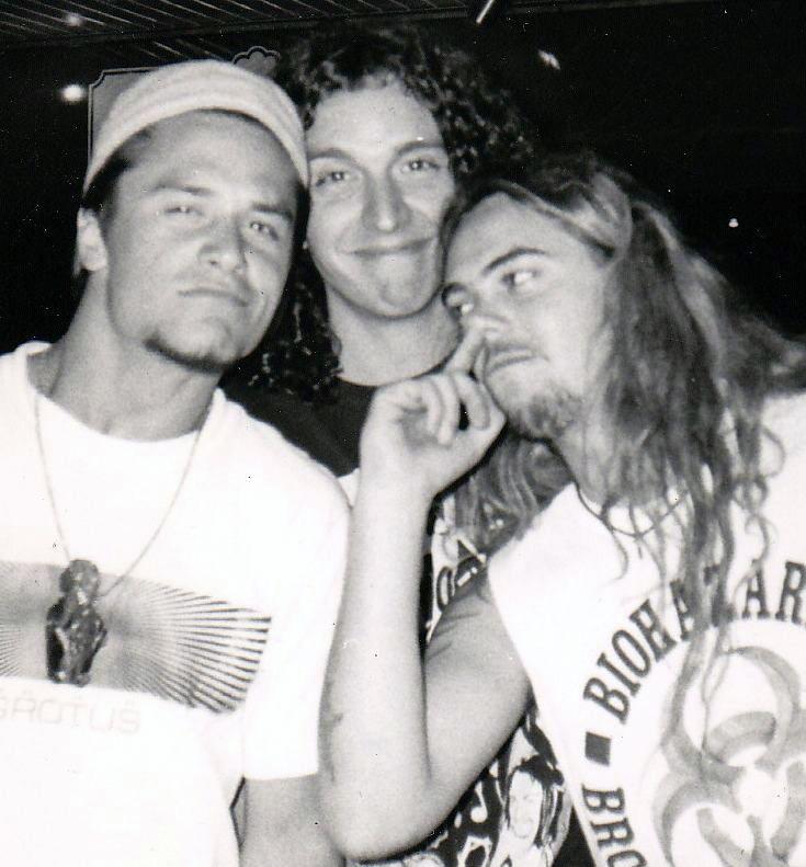 Mike Patton (Faith No More) and Max Cavalera (Sepultura) in Rio, Brazil, 1991