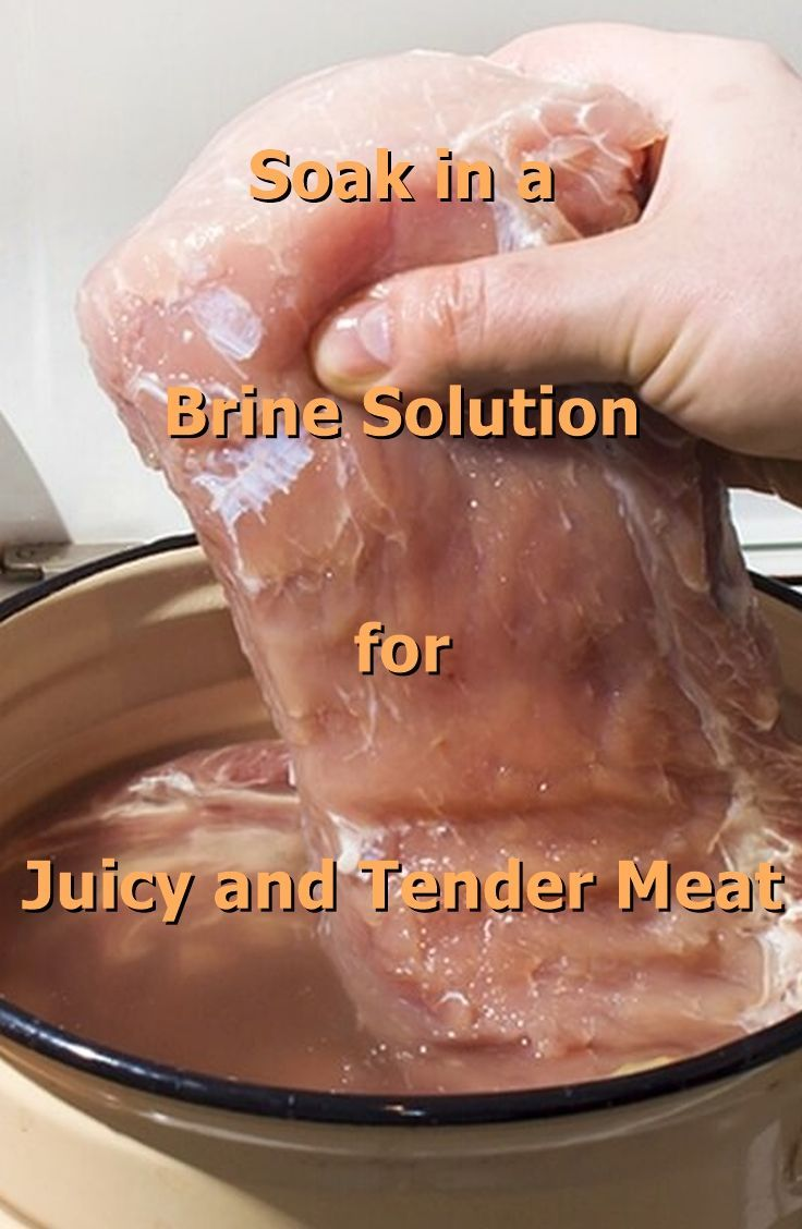 Instructions and timetable for soaking meat in brine solution.