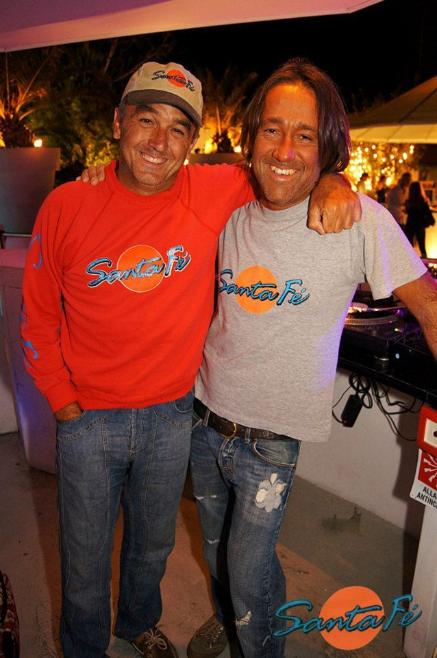Santa Fe' party to remember. Dj Baba and me