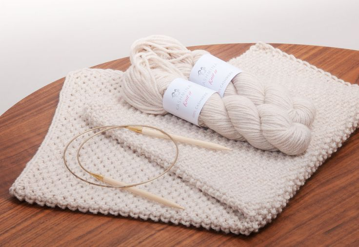 Pearl knit cashmere baby blanket from Kashmina Knit It