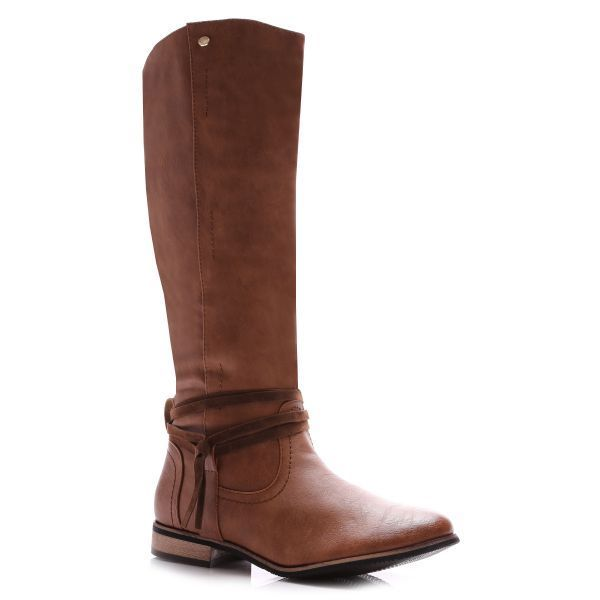WOMENS NEW WINTER FUR WARM LIGHT BROWN KNEE HIGH BOOTS ZIP LADIES HEEL LOW SIZE 	 £19.99 http://stores.ebay.co.uk/Shoes-Alley-Shop?_trksid=p2047675.l2563