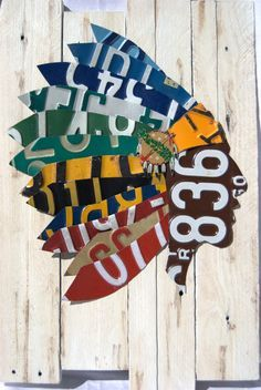 License Plate Art Custom Native Headdress by QuillcoCreations