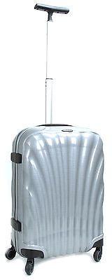 "NEW SILVER Samsonite Cosmolite 55cm 20"" Multiwheel Luggage Carry-on Curv Spinner"