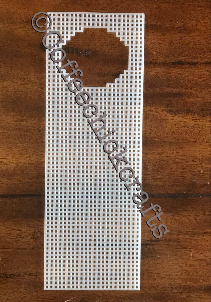 Plastic Canvas Door Hanger Cutout Shape https://www.etsy.com/listing/533676277/plastic-canvas-door-hanger-shape-cut