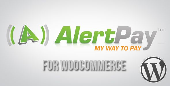 AlertPay Gateway for WooCommerce   http://codecanyon.net/item/alertpay-gateway-for-woocommerce/1501291?ref=damiamio      Updated to work with URL Changes from Alertpay to Payza. AlertPay Payment Gateway is a Wordpress Plugin which allows the WooCommerce plugin to accept payment through Alertpay Account Balance and Credit Card payments without worrying the Customers Credit Cards Details which are taken care by the AlertPay.  Looking for a Payment Gateway and can't find one in our portfolio…