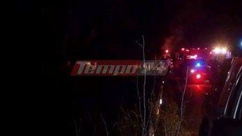 Νταλίκα πήρε φωτιά στην Πατρών - Κορίνθου - Nεκρή μια γυναίκα   Μια γυναίκα βρήκε τραγικό θάνατο στην καμπίνα νταλίκας που τυλίχθηκε στις φλόγες όταν εξετράπη της πορείας της στην Εθνική Οδό Πατρών - Πύργου... from ΡΟΗ ΕΙΔΗΣΕΩΝ enikos.gr http://ift.tt/2mkl5c7 ΡΟΗ ΕΙΔΗΣΕΩΝ enikos.gr