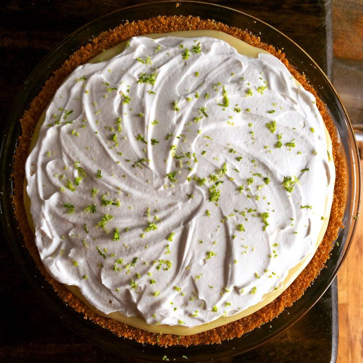Key lime pie, with homemade graham cracker crust and maple bourbon whipped cream. Looks amazing, tastes sexy, requires zero effort. - Recipe in comments
