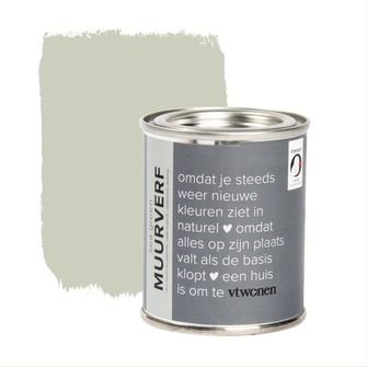 vtwonen tester krijt mat muurverf sea green 100ml | vtwonen verf | vtwonen | KARWEI